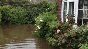 Flooding at Kate Fellick's home