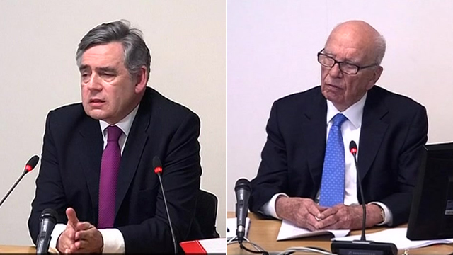 Gordon Brown and Rupert Murdoch
