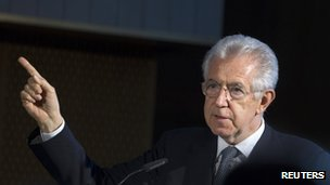 Portrait of Mario Monti