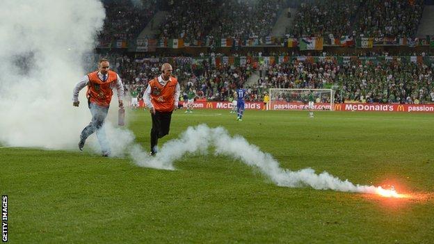Stewards at the Ireland-Croatia game
