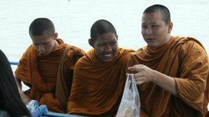 Three Buddhist Monks, Thailand