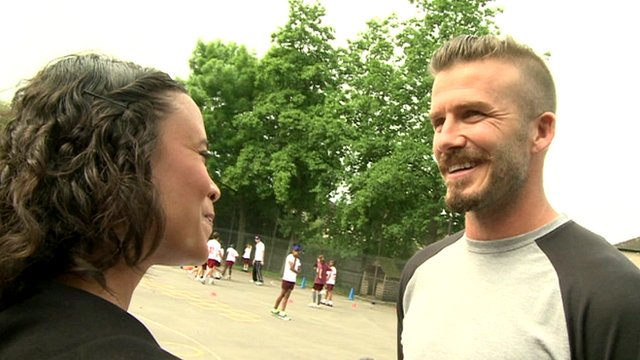 David Beckham talks to Newsround's Leah