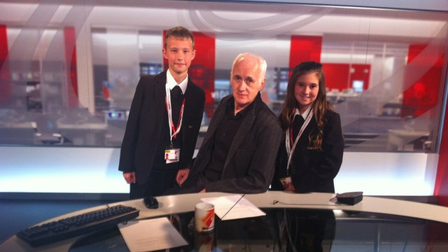 Terry Deary with School Reporters
