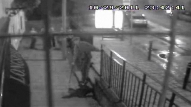 CCTV image of Kevin Rooney after the attack