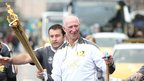 Jack Charlton walks with the torch in Newcastle, 15 June 2012