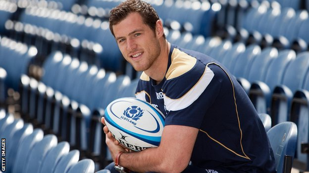 Scotland winger Tim Visser scored two tries on his debut against Fiji