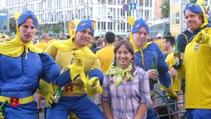 Sweden&#039;s fans at Euro 2012