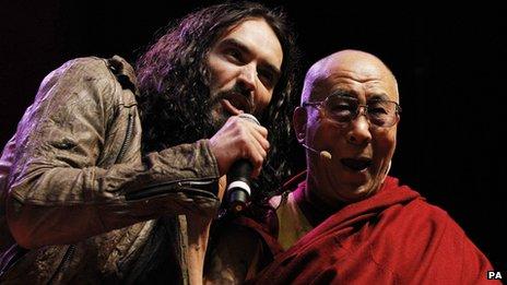 Russell Brand and the Dalai Lama