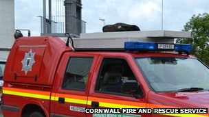Cornwall fire service vehicle