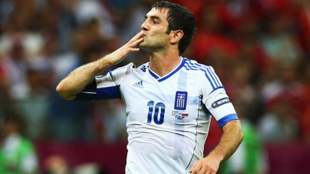 Greece&#039;s Giorgos Karagounis
