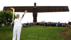 The torch at the Angel of the North, 16 June 2012