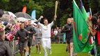 One Show presenter Matt Baker carries the torch at The Racecourse, Durham, 16 June 2012