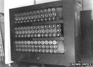 One of the original bombe machines