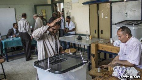 Voting in Giza - 16 June
