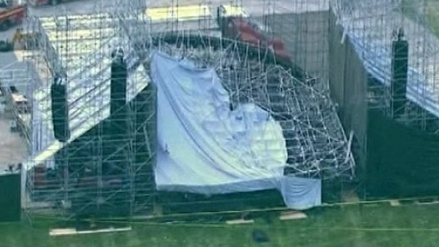 Part of the stage collapsed ahead of a concert in Toronto