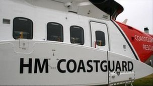 HM Coastguard helicopter