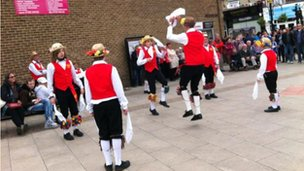 Morris dancers in Bishop Auckland