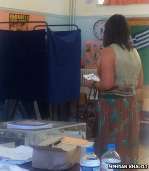 Voter in Corinth, 17 June