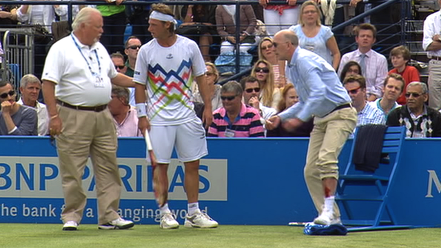 David Nalbandian and the injured line judge