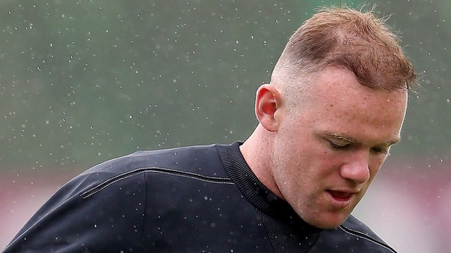 Wayne Rooney with his hair transplant in 2010 failure