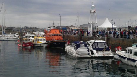 Boat blessing, Guernsey, 17 June 2012