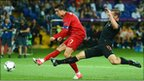 Cristiano Ronaldo equalises against Holland