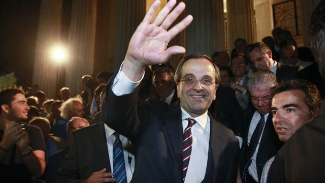 New Democracy leader Antonis Samaras