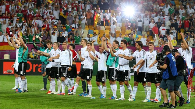 Germany celebrate their win