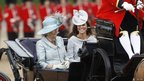 The Duchess of Cornwall and the Duchess of Cambridge rode in a horse drawn carriage with Prince Harry