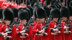 Guardsmen during the Trooping the Colour ceremony.