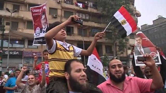 Muslim Brotherhood supporters in Cairo's Tahrir Square