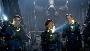Logan Marshall-Green, Noomi Rapace and Michael Fassbender Prometheus