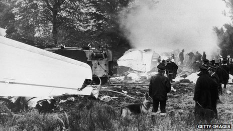 Air crash scene