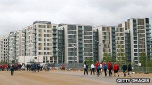 Olympic Park athletes' village in east London