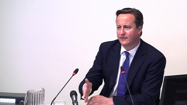 David Cameron at Leveson Inquiry