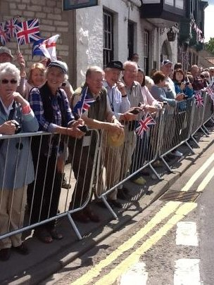 Crowds line the streets in Pickering
