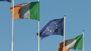 EU and Irish flag