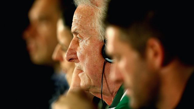 Giovanni Trapattoni at Sunday's Republic of Ireland press conference