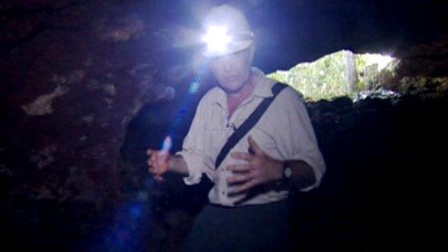 Inside Amazon cave