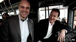 David Cameron and the Swedish Prime Minister Fredrik Reinfeldt