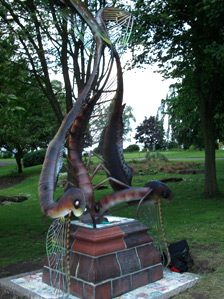 Mayfly sculpture