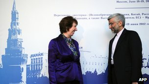 Catherine Ashton and Saeed Jalili (18/06/12)