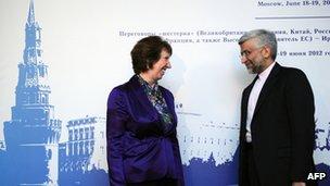 Catherine Ashton and Saeed Jalili (18/06/12)