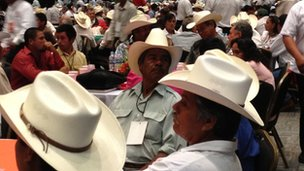 People attending the Pena Nieto event in Tampico