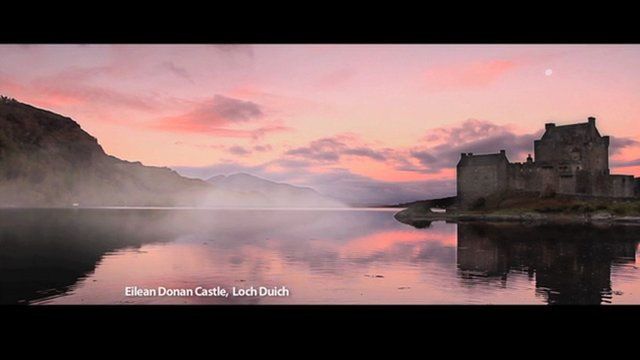 Eilean Donan castle in the VisitScotland advert (Pic: VisitScotland)