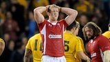 Bradley Davies shows his disappointment after losing the series to Australia in Melbourne