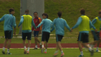 The Spain squad training at Euro 2012