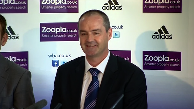 New West Brom head coach Steve Clarke