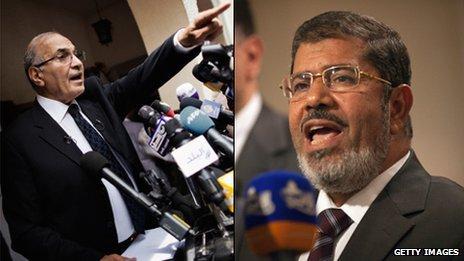 Ahmed Shafiq and Muhammed Mursi