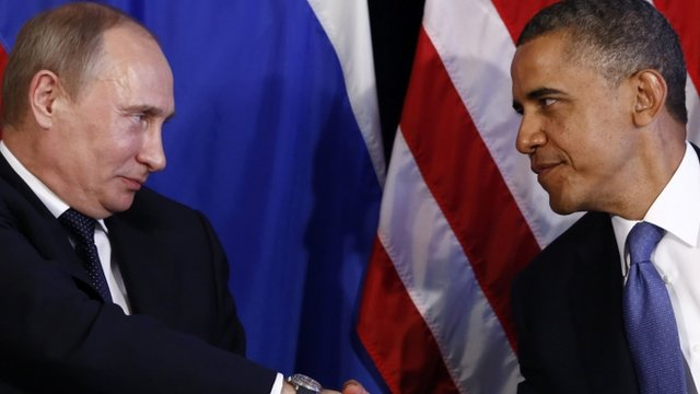 Vladimir Putin and President Obama